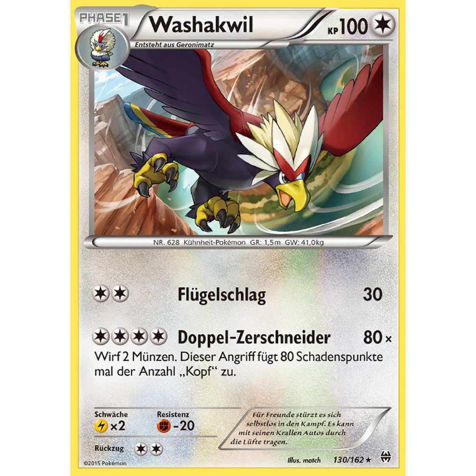 Pokemon XY Turbostart 130//162 Washakwil Deutsch