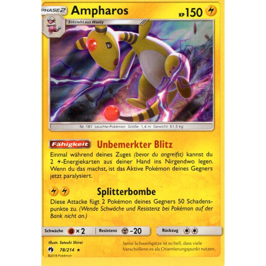 Echo des Donners Pokemon 78//214 Ampharos Deutsch