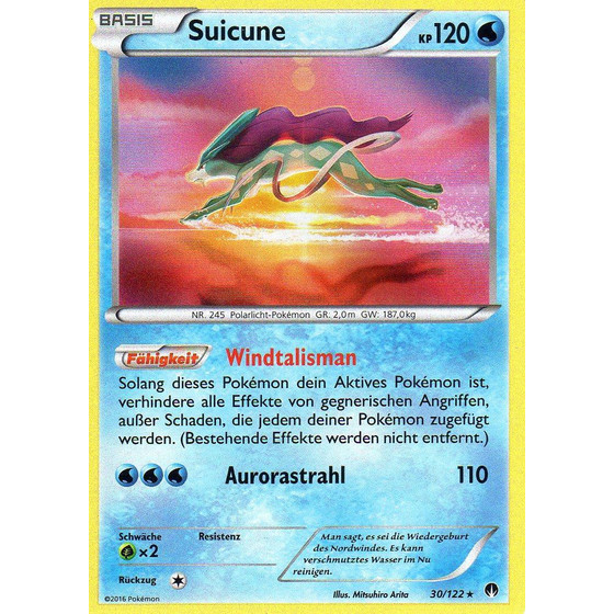 Suicune - 30/122 - Holo