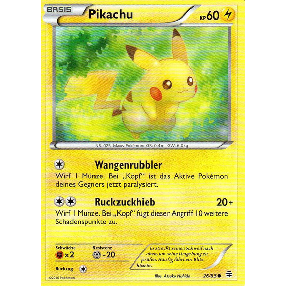 Pikachu - 26/83 - Common