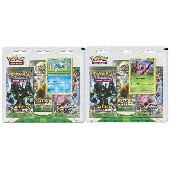 XY10 Fates Collide 3-Pack Blister
