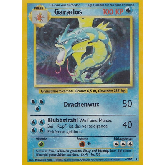 Garados - 6/102 - Holo - Played