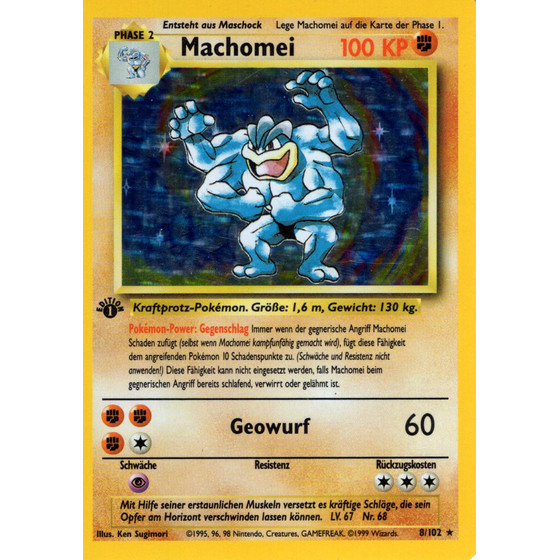 Machomei - 8/102 - Holo 1st Edition - Good