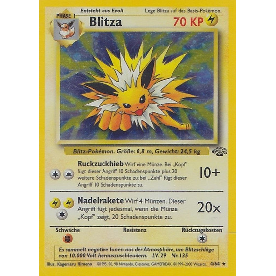 Blitza - 4/64 - Holo - Played