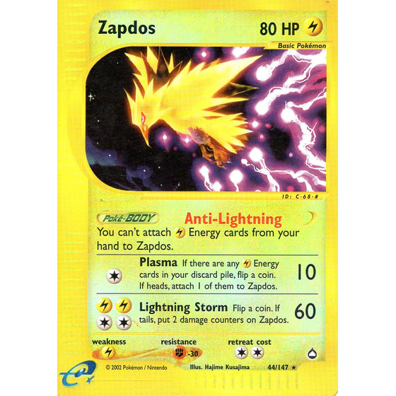 Zapdos - 44/147 - Reverse Holo - Played