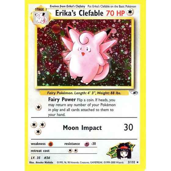 Erikas Clefable - 3/132 - Holo - Good