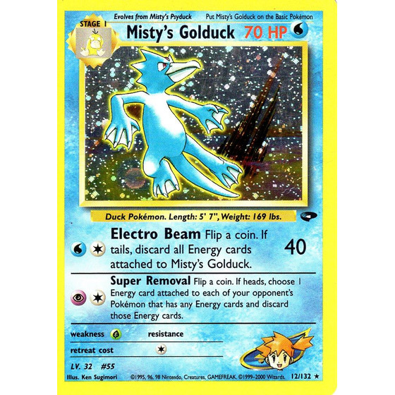 Mistys Golduck - 12/132 - Holo - Played
