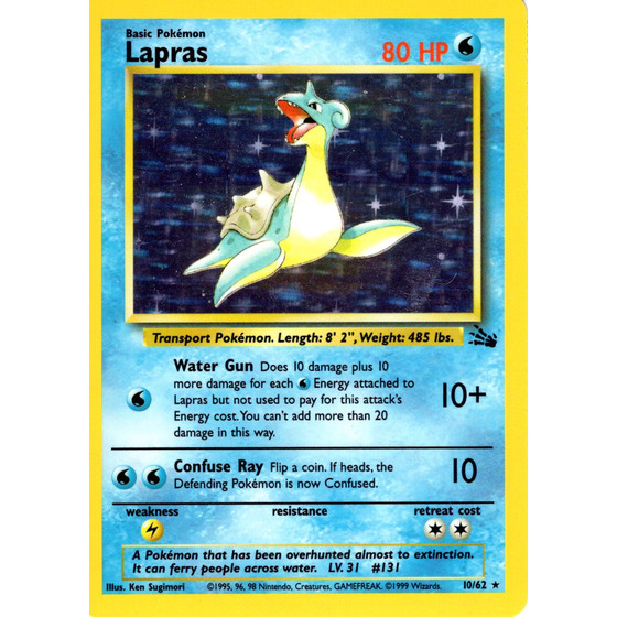 Lapras - 10/62 - Holo - Good