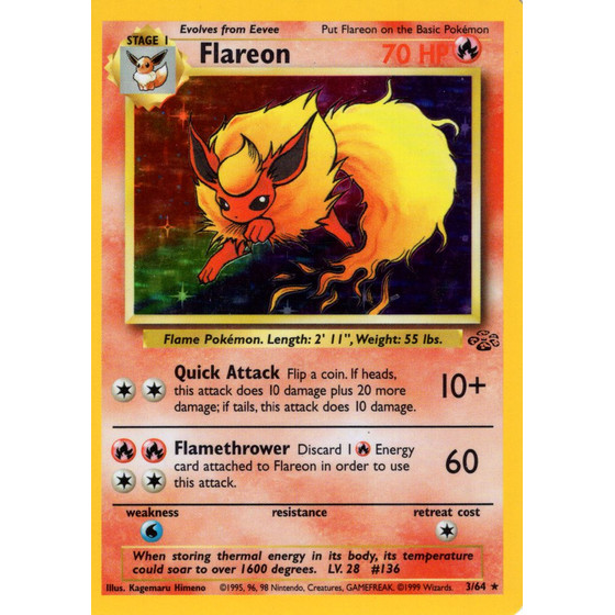 Flareon - 3/64 - Holo - Played