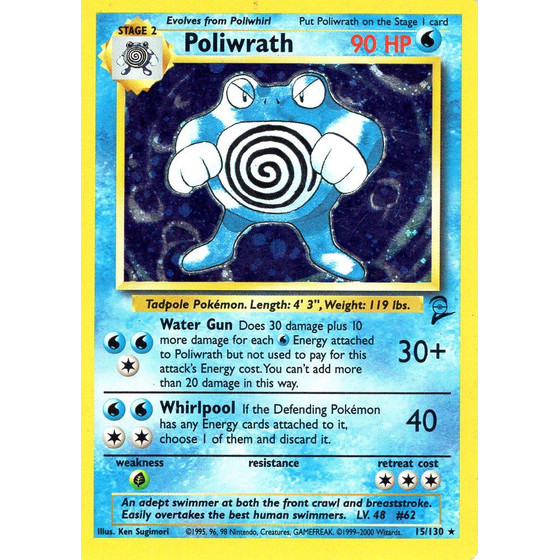 Poliwrath - 15/130 - Holo - Played