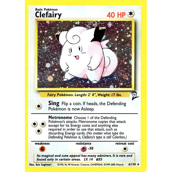 Clefairy - 6/130 - Holo - Played