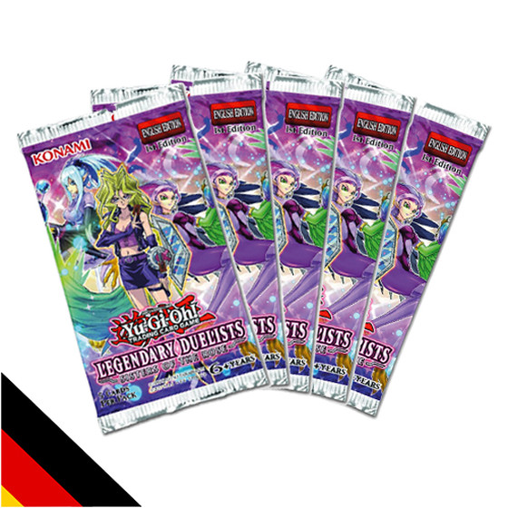 5x Legendary Duelists: Sisters of the Rose Booster Deutsch
