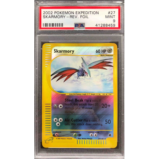 Skarmory - 27/165 Expedition - PSA 9 Reverse Holo MINT