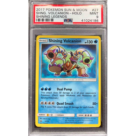 Shining Volcanion - 27/73 Shining Legends - PSA 9 Holo MINT