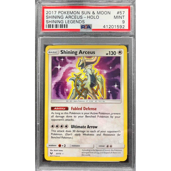 Shining Arceus - 57/73 Shining Legends - PSA 9 Holo MINT