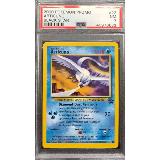 Articuno - 1999 Nintendo Blackstar Movie Promo #22 - PSA...