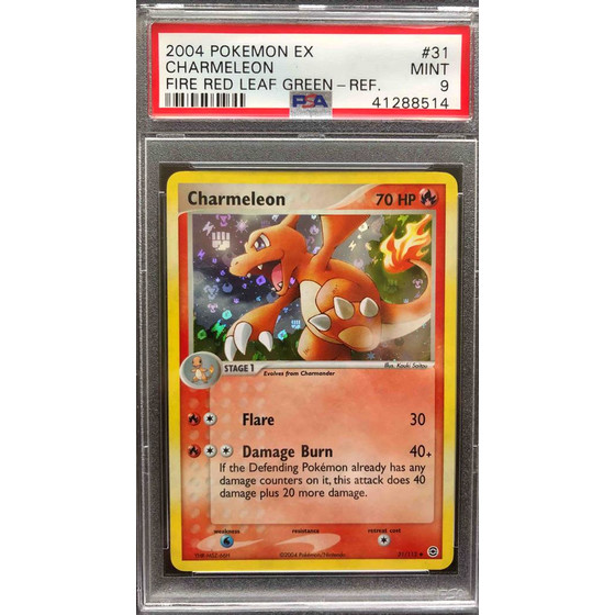Charmeleon - 31/112 Fire Red & Leaf Green - PSA 9 Reverse...