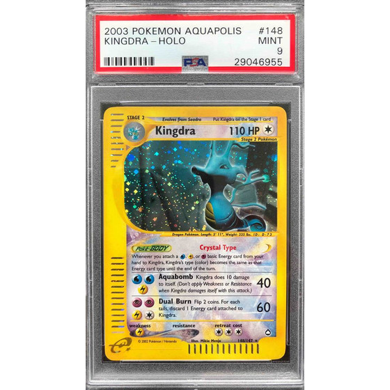 Kingdra - 148/147 Aquapolis - PSA 9 Holo MINT