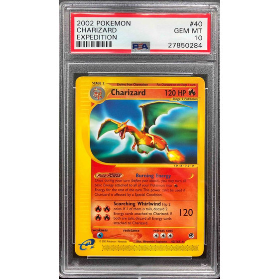 Charizard - 40/165 Expedition - PSA 10 Rare GEM MT