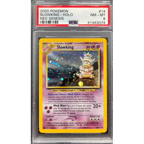 Slowking - Neo Genesis 14/111 Unlimited - PSA 8 Holo NM - MT