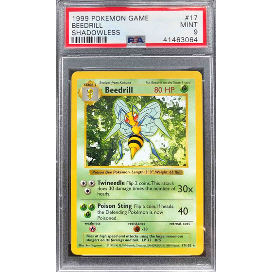 Beedrill - 17/102 Shadowless Base Set- PSA 9 Rare MINT