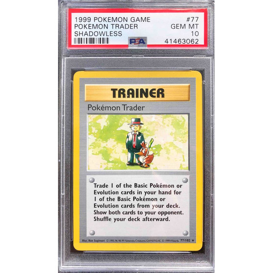 Pokemon Trader - 77/102 Shadowless Base Set - PSA 10 Rare...