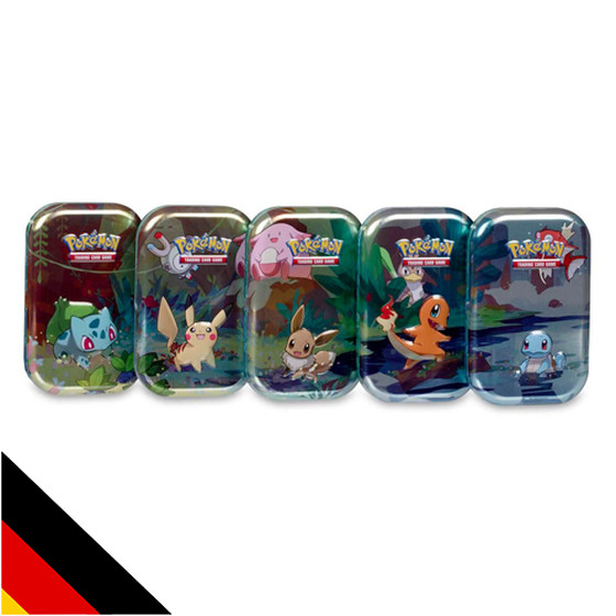 Kanto-Freunde Mini Tin Box 5er Set - alle Motive - (Deutsch)