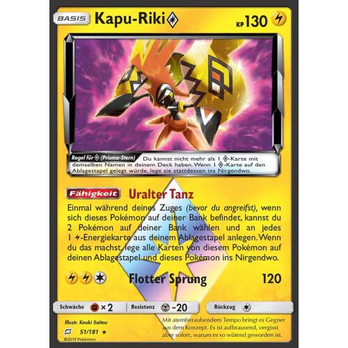 Holo Prisma Stern Kapu-Riki 51//181 Teams Sind Trumpf DE NM