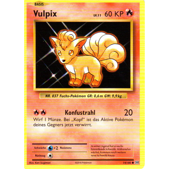 Vulpix - 14/108 - Common