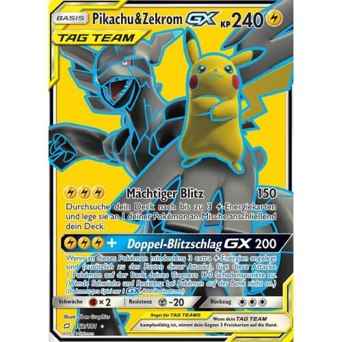 Pikachu Zekrom Gx 162 181 Sm9 Teams Sind Trumpf