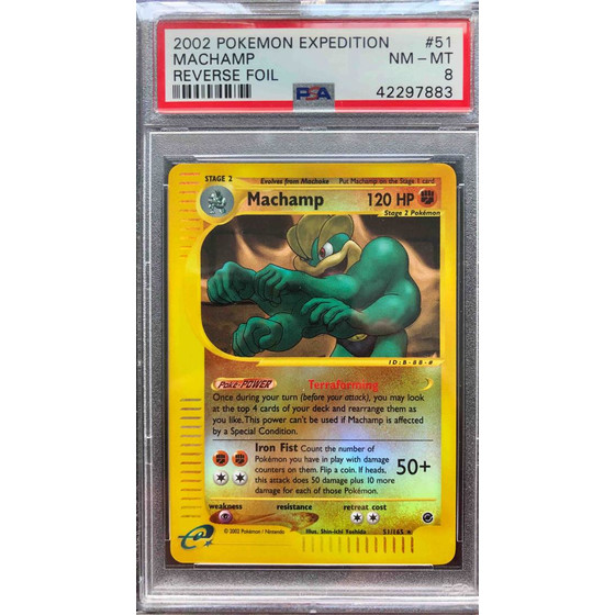 Machamp - 51/165 Expedition - PSA 8 Reverse Holo NM - MT