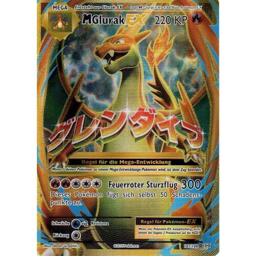 Pokemon Karten Mega Glurak Ex.M Glurak Ex 101 108 Fullart