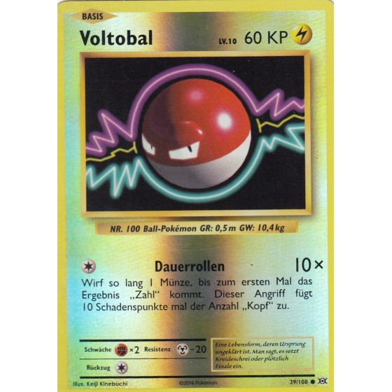 Voltobal - 39/108 - Reverse Holo