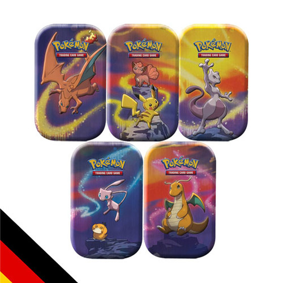Kanto Stärke Mini Tin Box 5er Set - alle Motive - (Deutsch)