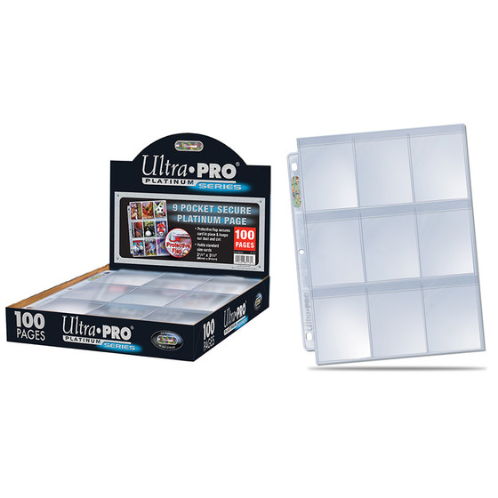 Ultra Pro - Platinum 9-Pocket Pages Display (100 Seiten)