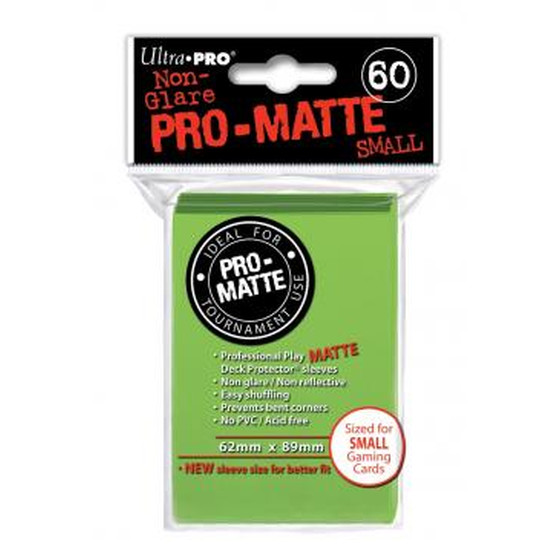 Ultra Pro Pro Matte Small Lime Green - 60 Sleeves
