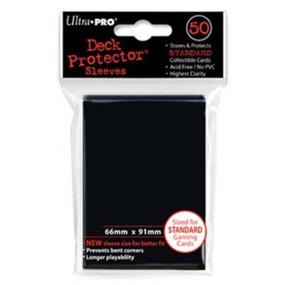 Ultra Pro Deck Protector Black - 50 Sleeves