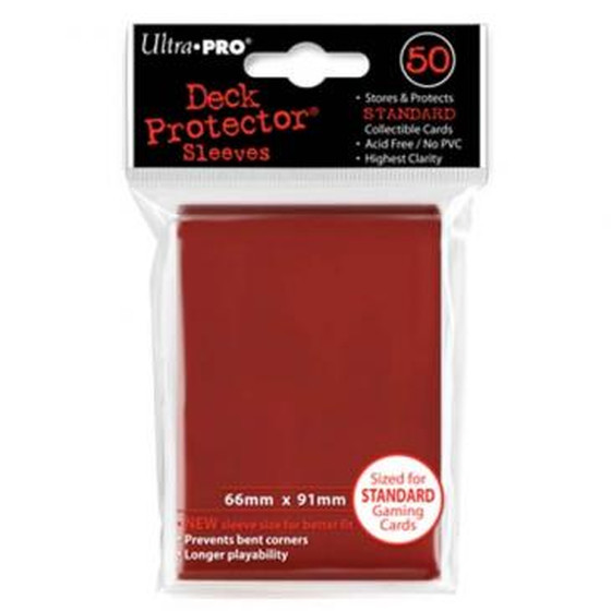 Ultra Pro Deck Protector Red - 50 Sleeves