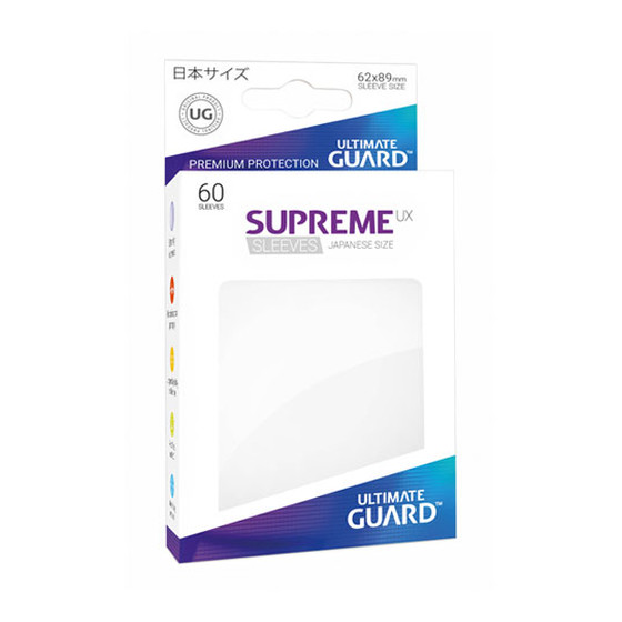 Ultimate Guard Supreme Sleeves Small UX White - 60 Sleeves