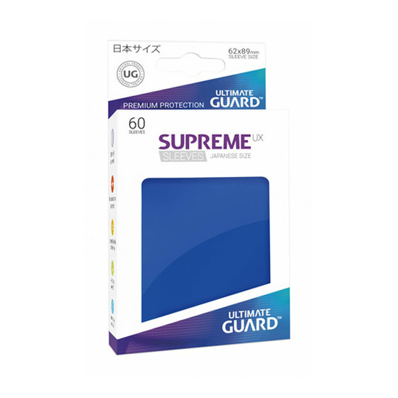 Ultimate Guard Supreme Sleeves Small UX Blue - 60 Sleeves