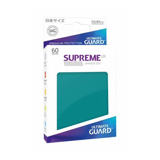 Ultimate Guard Supreme Sleeves Small UX Petrol - 60 Sleeves