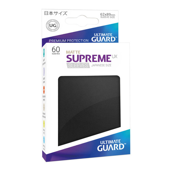 Ultimate Guard Supreme Sleeves Small UX Matte Black - 60...
