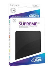 Ultimate Guard Supreme Sleeves Small UX Matte Black - 60 Sleeves