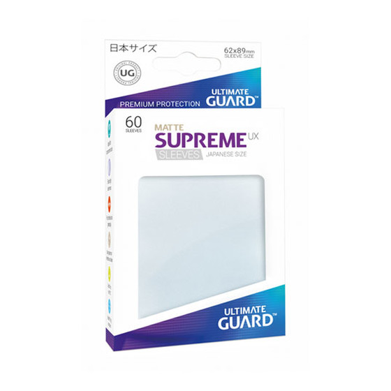 Ultimate Guard Supreme Sleeves Small UX Matte Frosted -...