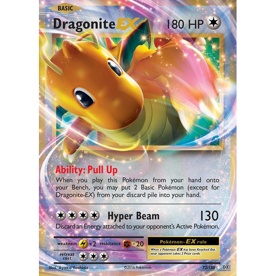 Dragonite-EX - 72/108 - EX