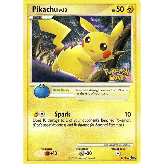 Pikachu - 9/17 Pokemon Day Promo - Netherlands Exclusive