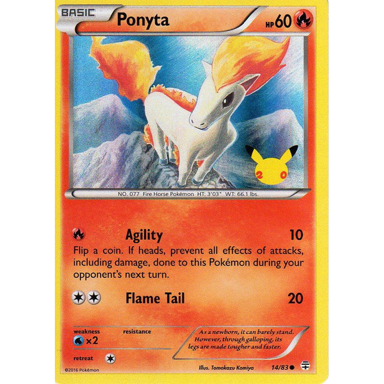 Ponyta - 14/83 20th Anniversary Promo - UK Exclusive