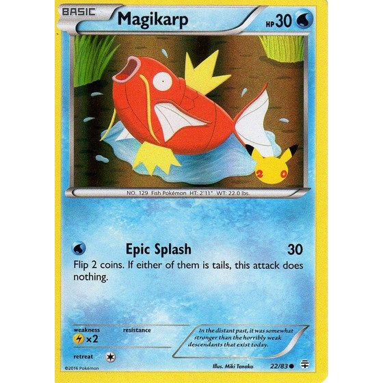 Magikarp - 22/83 20th Anniversary Promo - UK Exclusive