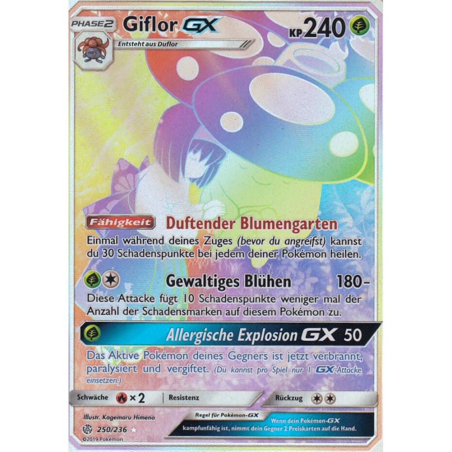 Pokemon Karte Giflor GX 4//236 Welten im Wandel deutsch