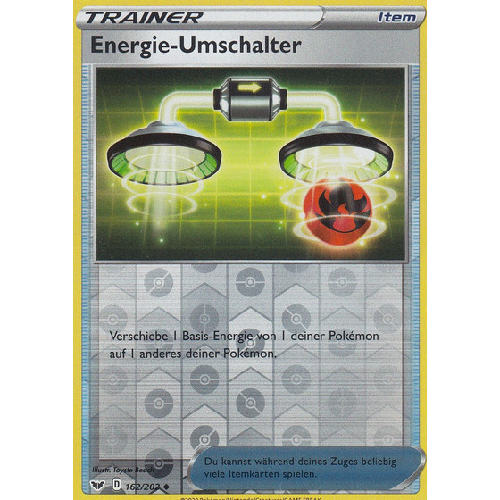 Energie-Umschalter 162//202  Reverse Holo Schwert /& Schild Pokemon